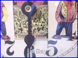 RARE VTG 1939 Amos'N' Andy Black Americana Radio Show Alarm Clock