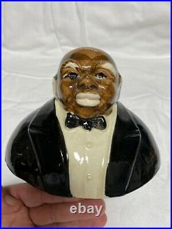 RARE Vintage Black Americana Butler Biscuit/Cookie Jar