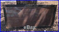 RARE Vintage Coon Chicken Inn Wood Framed Tin Sign Black Americana