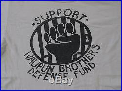 RARE Vintage July 27 1976 Black Panther Party Waupun Rally T-Shirt Poster