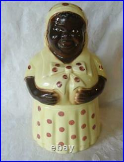 RARE Vintage The Best Black Americana Cookie Jar