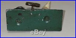 RARE c1910-20 Antique Cast Iron Black Americana Free Bath Hooded Figure 2 1/3