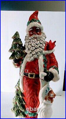 Rare 18 African American Santa Claus /cracker Barrel Cookie Jar