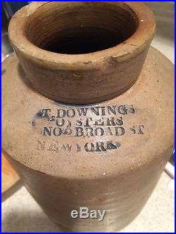 Rare 1800's Thomas Downing Pickled Oyster Crock N Y Son of Black Slaves