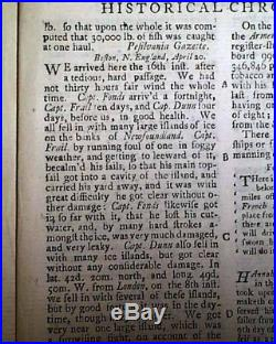 Rare 18th Century MARYLAND SLAVE Print & Girl Soldier Hannah Snell 1750 Magazine