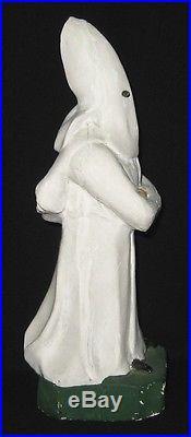 Rare 1923 KKK KU KLUX KLAN 8 STATUE KOTOP CHALKWARE White Robe BLACK AMERICANA