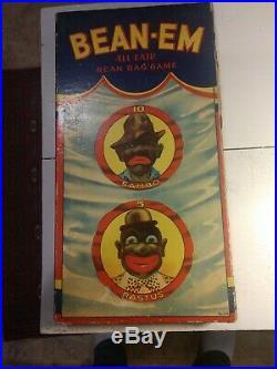 Rare 1931 Antique Black Americana Black Sambo Bean Bag Game Great Graphics