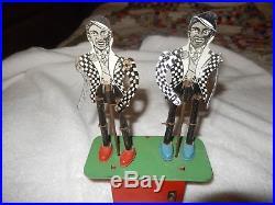 Rare 1940's Tin Wind-up Black Americana Jigger Amos & Andy Look Tap Dancers