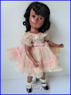 Rare 1952 Madame Alexander CYNTHIA Doll African American 15 All Original Dress