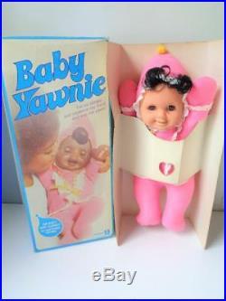 Rare 1974 Kenner BABY YAWNIE Black African American Doll in Box MIB Brown Skin