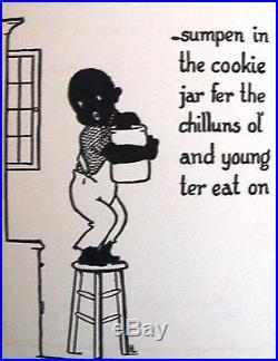 Rare 1st MISS MINERVA COOKBOOK BLACK MAMMY racist NEGRO drawings DIALECT 1931