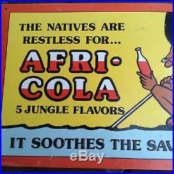 Rare Afri-cola Advertising Drink Sign Black Americana