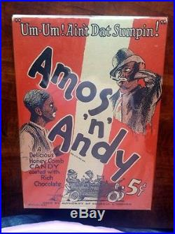 Rare Amos N Andy Chocolate Candy Box. Great Condition 1930 Black Americana