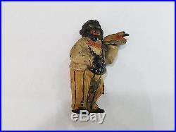 Rare Antique Black Americana Cast Metal / Iron Figurine -3140