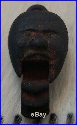 Rare Antique Black Americana Mechanical Toy Cast Iron Cap Popper Head