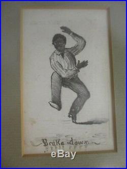Rare Antique Black Americana Original Drawings Wilsons Minstrels Plantation Jig