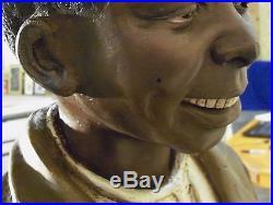 Rare Antique Life-size Terra Cotta Beggar Boy Black Americana History San Fran