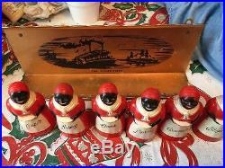 Rare Aunt Jemima Spice Set and Mississippi River Boat Spice Rack