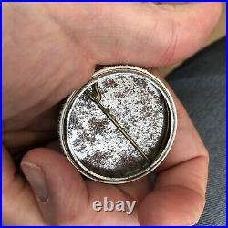 Rare Black Americana 1970's Protest Pin Button Civil Rights Free Dessie Woods