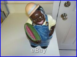 Rare Black Americana Carol Gifford Artist Proof Black Man Cookie Jar c. 87
