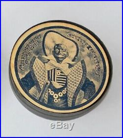 Rare Black Americana Circular Playing Cards c1890 Full Set with Joker