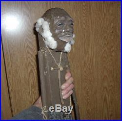 Rare Black Americana Folk Art Clay Head Doll Signed By Artist