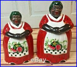 Rare Black Americana Mammy Cookie Jar And Canister Set Memories Of Mama