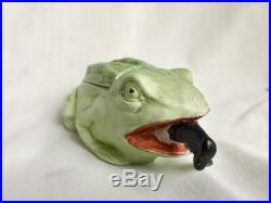Rare Black Memorabilia Black boy consumed by Large Frog