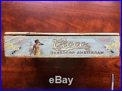 Rare Choco Bensdorp Amsterdam Wooden Chocolate Candy Box. Black Americana