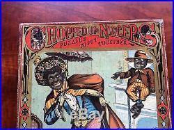Rare Chopped Up McLoughlin Bros Puzzle Box Black Americana 1870's/80's