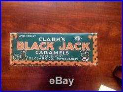 Rare Clark's Black Jack Caramels Candy Box. Black Americana 1930's