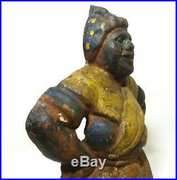 Rare Early 20th C Vint Aunt Jemima Black Americana Cast Iron Doorstop Orig Paint