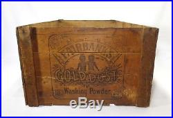 Rare Early Black Americana Gold Dust Twins Washing Powder Soap Wood Box Crate