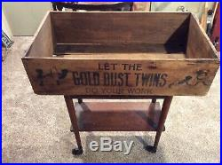 Rare Gold Dust Twins Vintage Black Americana 1880s Soap Wood Box Crate