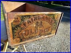 Rare Gold Dust Twins Vintage Black Americana 1880s Soap Wood Box Crate Antique