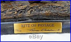 Rare Limited Edition Thomas Blackshear Rite Of Passage Bronze Statue