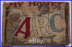 Rare MY HONEY'S ABC Father Tuck's Indestructible Calico Book Black Americana