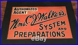 Rare Madam Cj Walker Vintage Advertising Black Americana Cardstock Sign