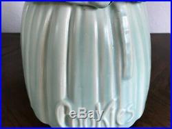 Rare McCoy Mrs. Butterworth Black Americana Light Blue/Green Cookie Jar
