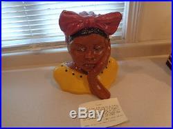 Rare Miller's Sarah Unusual African American Limited Black Americana Cookie Jar