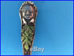 Rare Mint 1910 Black Americana Sterling Silver enamel Watermelon Spoon