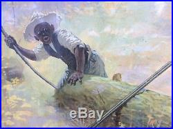 Rare Old Coon Hunting Winchester Rifle Black America Print Cabin Lodge 31 x 24