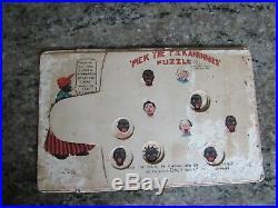 Rare Pick The Pickaninny Puzzle Post Card 1907 Black Americana Game Aunt Jemima