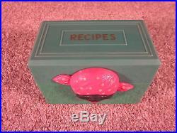 Rare Vintage Aunt Jemima Green Recipe Box