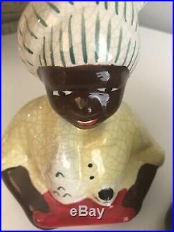 Rare Vintage Black Americana ORIGINAL MCCOY AUNT JEMIMA MAMMY COOKIE JAR