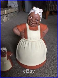 Rare Vintage Black Americana Sassy Mammy Cookie Jar Aunt Jemima Salt & Pepper