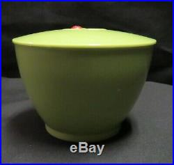 Rare Vintage Green Aunt Jemima Covered Sugar Bowl, F & F Mold and Die Works