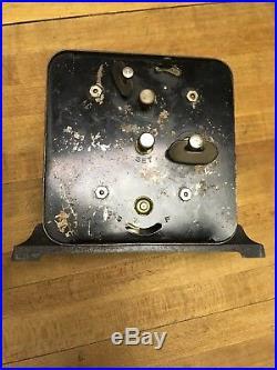 Rare Vintage Lux Black Americana Alarm Clock Animated Peanut Roaster Clock Wokrs
