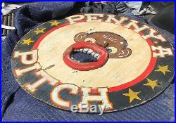 Rare Vintage Pitch A Penny Black Americana Circus Carnival Game