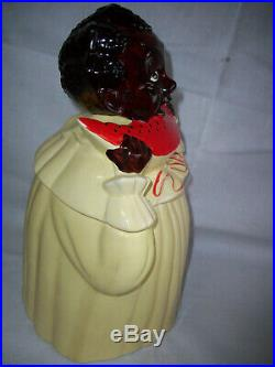 Rare Watermelon Mammy Pearl China Cookie Jar Very Special Black Americana